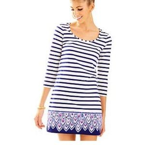 Lilly Pulitzer Beacon blue and white striped dress